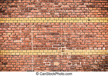Brick wall with stripes