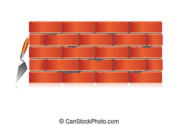 brick wall with tool