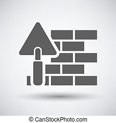 Brick wall with trowel icon