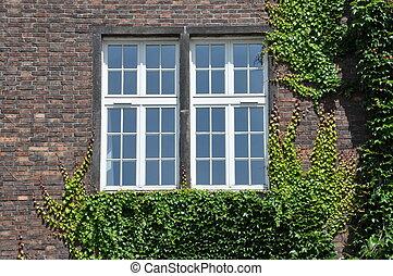 Brick wall with window wall