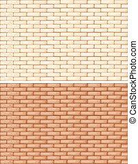 Brick walls in two shades of brown