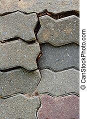 Brick way background
