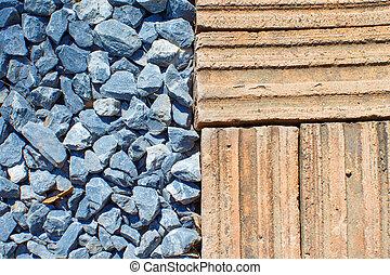 Brick with stone flooring