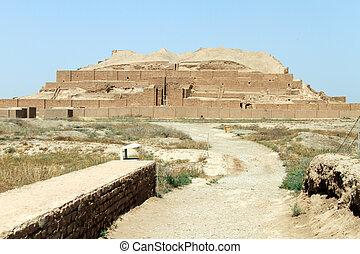 Brick ziggurat Choqa Zanbil near Shush, Iran