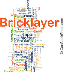 Bricklayer background concept