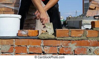 bricks, работа, сайт, воздух, строительство, lays, открытый