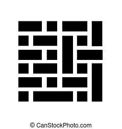 bricks background vector