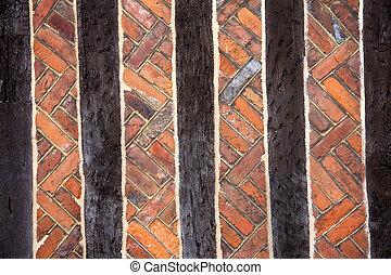 Bricks & beams - Background of beams and bricks in...