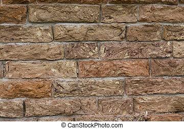 Detail shot of a worn set of bricks.
