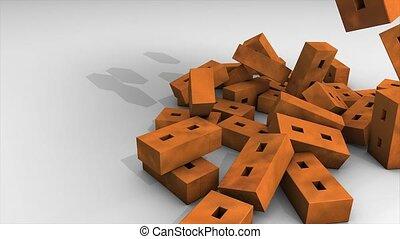 Bricks falling animation.
