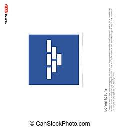 Bricks Icon - Blue photo Frame