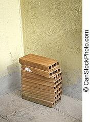 Bricks in a home