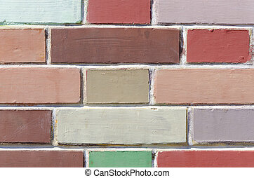 bricks in many colors