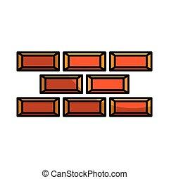 bricks wall construction icon