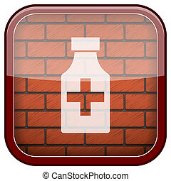 Bricks wall icon