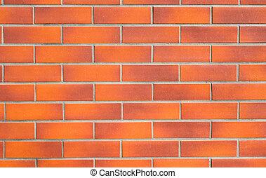 brickwall, achtergrond, rood