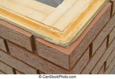 brickwall, aislamiento, termal