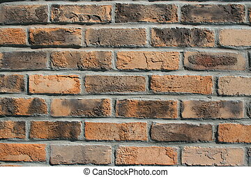 Brickwall - Close up of a brickwall showing unique pattern.