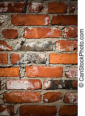Brickwall - Close up of red brickwall