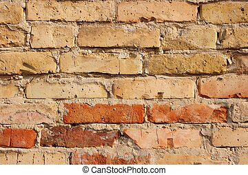 Brickwall - Closeup of an old brick wall