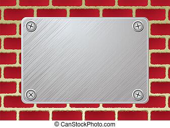 brickwall metal plate