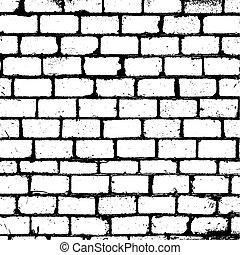 brickwall, struktur, täcka över