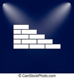 Brickwork flat style icon
