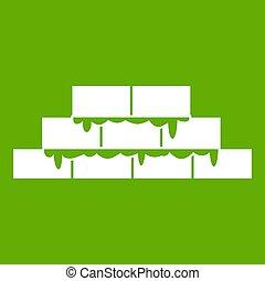 Brickwork icon green