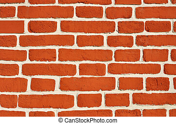 Brickwork wall - Weathered aged red brickwork wall vintage...
