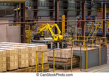 Brickworks. Equipment and manufactured goods