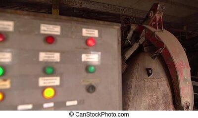 Brickyard. View of dryer's control panel, close-up - Brick...