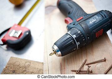 bricolage, outils, concept