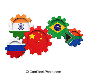 brics, concept, illustratie