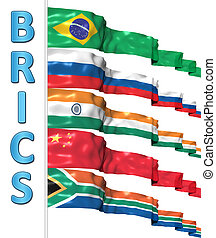 BRICS concept isolated on white