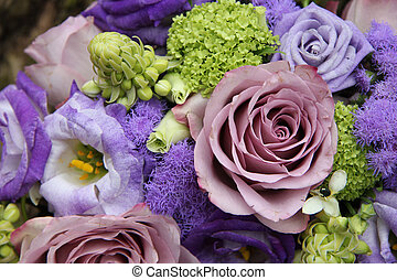 Bridal arrangement in different shades of purple - Mixed...