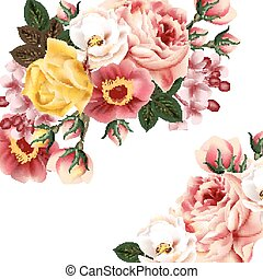 Bridal background with beautiful roses.eps
