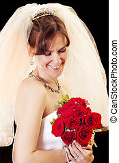 bridal bliss - Beautiful model wearing a wedding gown and ...