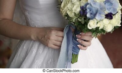 Bridal bouquet in hands