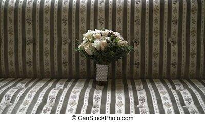 Bridal bouquet indoors - Bridal bouquet flowers indoors