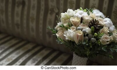 Bridal bouquet indoors - Bridal bouquet flowers indoors at...