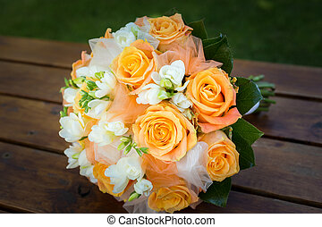bridal bouquet, noha, narancs white, menstruáció