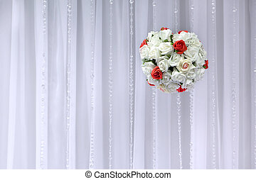 Bridal bouquet of flowers in the shape of layer