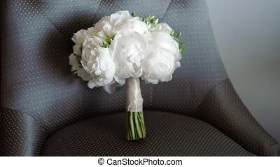 Bridal bouquet with peonies - Bridal bouquet with white...
