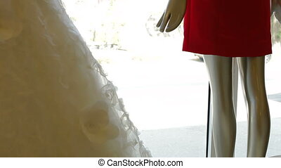 Bridal Boutique Window - Bridal boutique display window with...