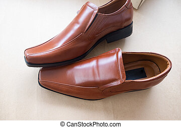 Bridal brown shoes for groom