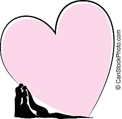 Bridal couple-Heart concept
