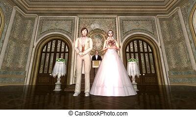 Bridal couple