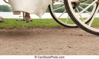 Bridal Couple With Carriage