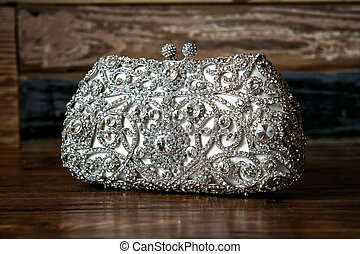 Bridal / Evening purse / clutch - Image of a jeweled clutch...