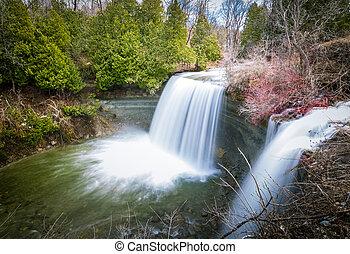 Bridal Falls at Manitoulin Island